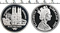 Изображение Монеты Гибралтар 5 фунтов 2007 Серебро Proof 60 лет свадьбы Корол