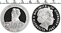 Изображение Монеты Гернси 5 фунтов 2007 Серебро Proof Елизавета II. Алекса