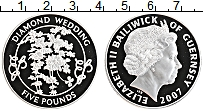 Изображение Монеты Гернси 5 фунтов 2007 Серебро Proof