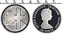 Изображение Монеты Фолклендские острова 50 пенсов 1982 Серебро Proof Елизавета II. Освобо
