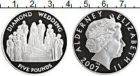 Изображение Монеты Олдерни 5 фунтов 2007 Серебро Proof Елизавета II. 60 лет