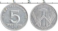 Изображение Монеты ГДР 5 пфеннигов 1953 Алюминий XF