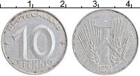 Изображение Монеты ГДР 10 пфеннигов 1952 Алюминий XF
