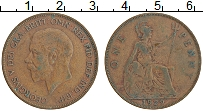 Изображение Монеты Великобритания 1 пенни 1929 Бронза XF Георг V