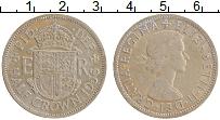 Изображение Монеты Великобритания 1/2 кроны 1956 Медно-никель XF