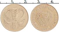 Изображение Монеты Кипр 5 центов 1983 Латунь XF