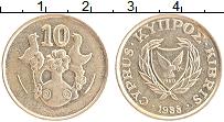 Изображение Монеты Кипр 10 центов 1988 Латунь XF