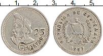 Изображение Монеты Гватемала 25 сентаво 1997 Медно-никель XF