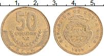 Изображение Монеты Коста-Рика 50 колон 1999 Латунь XF