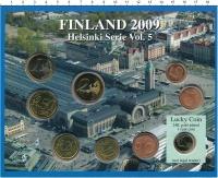 Изображение Подарочные монеты Финляндия Евронабор 2009 года 2009  UNC