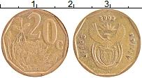 Изображение Монеты ЮАР 20 центов 2002 Латунь XF