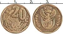 Изображение Монеты ЮАР 20 центов 2008 Латунь XF