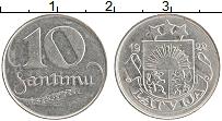 Изображение Монеты Латвия 10 сантим 1922 Медно-никель XF