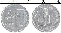 Изображение Монеты Аргентина 1 аустралес 1989 Алюминий UNC-