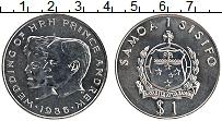 Изображение Монеты Самоа 1 доллар 1986 Медно-никель UNC- Свадьба принца Эндрю