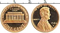 Изображение Монеты США 1 цент 1982 Бронза Proof