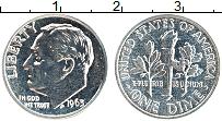 Изображение Монеты США 1 дайм 1963 Серебро Proof