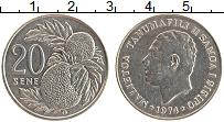 Изображение Монеты Самоа 20 сене 1974 Медно-никель UNC- Танумафил II