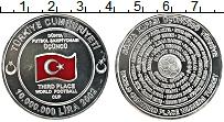 Изображение Монеты Турция 10000000 лир 2002 Серебро Proof 3-е место на Чемпион