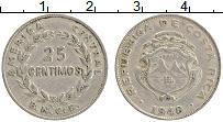 Изображение Монеты Коста-Рика 25 сентим 1948 Медно-никель VF