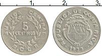 Изображение Монеты Коста-Рика 5 сентим 1973 Медно-никель XF Герб