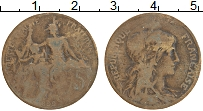 Изображение Монеты Франция 5 сантим 1899 Бронза VF