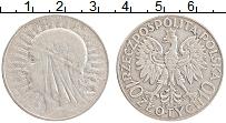 Изображение Монеты Польша 10 злотых 1932 Серебро XF Ядвига