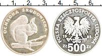 Изображение Монеты Польша 500 злотых 1985 Серебро Proof- Охрана окружающей ср
