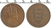 Изображение Монеты Остров Джерси 1/12 шиллинга 1909 Медь XF Эдуард VII