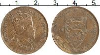 Изображение Монеты Остров Джерси 1/24 шиллинга 1909 Медь XF