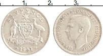 Изображение Монеты Австралия 6 пенсов 1941 Серебро XF