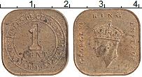 Изображение Монеты Малайя 1 цент 1943 Медь XF Георг VI.