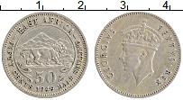Изображение Монеты Восточная Африка 50 центов 1949 Медно-никель XF Георг VI.