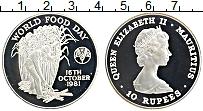 Изображение Монеты Маврикий 10 рупий 1981 Серебро Proof