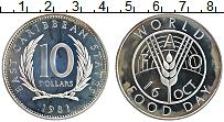 Изображение Монеты Карибы 10 долларов 1981 Серебро Proof-