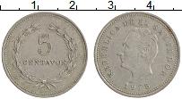 Изображение Монеты Сальвадор 5 сентаво 1975 Медно-никель XF Президент