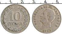 Изображение Монеты Сальвадор 10 сентаво 1969 Медно-никель XF Президент