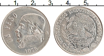 Изображение Монеты Мексика 1 песо 1976 Медно-никель XF Хосе Морелос