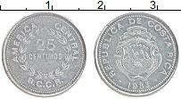 Изображение Монеты Коста-Рика 25 сентим 1983 Алюминий XF Герб