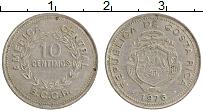 Изображение Монеты Коста-Рика 10 сентим 1976 Медно-никель XF Герб