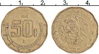 Изображение Монеты Мексика 50 сентаво 1993 Латунь XF Герб