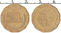 Изображение Монеты Мексика 50 сентаво 1994 Латунь XF Герб
