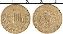 Изображение Монеты Мексика 50 сентаво 1992 Латунь XF Герб