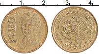 Изображение Монеты Мексика 20 песо 1985 Латунь XF