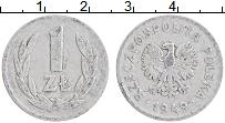 Изображение Монеты Польша 1 злотый 1949 Алюминий XF