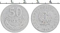 Изображение Монеты Польша 50 грош 1949 Алюминий XF Герб