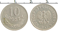 Изображение Монеты Польша 10 грош 1949 Медно-никель XF