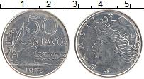 Изображение Монеты Бразилия 50 сентаво 1978 Медно-никель XF Корабль