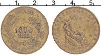 Изображение Монеты Бразилия 1000 рейс 1927 Латунь VF