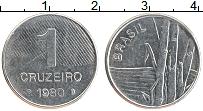 Изображение Монеты Бразилия 1 крузейро 1980 Железо XF Бамбук